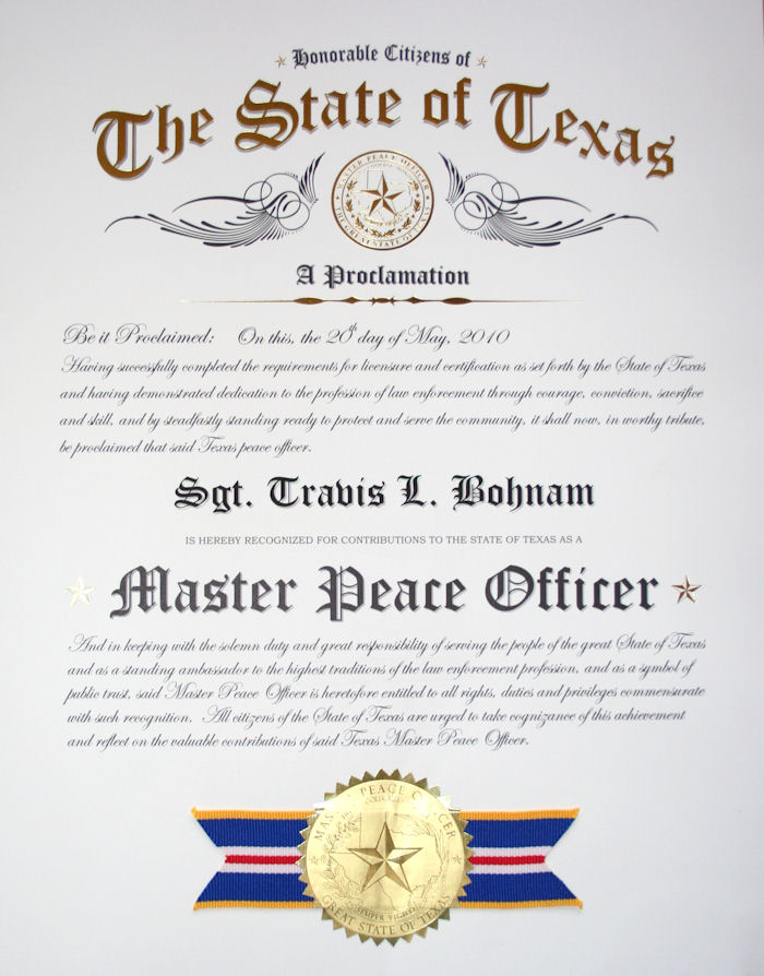 Texas Master Peace Officer Store - PRODUCTS Page