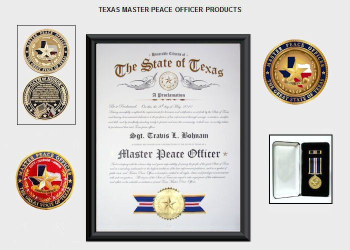 Texas Master Peace Officer Store Home Page